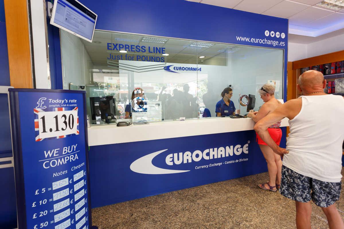 Eurochange las oficinas de cambio de libra que siguen for Oficina turismo benidorm