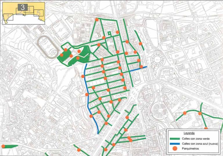Mapa Zona Azul Y Verde Madrid.Un Millon De Euros De Inversion Para El Nuevo Mapa De La Ora