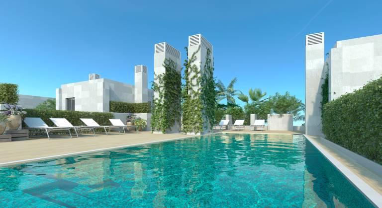 El lujo del centro kronos vende el 66 de sus pisos de for Piscina marva