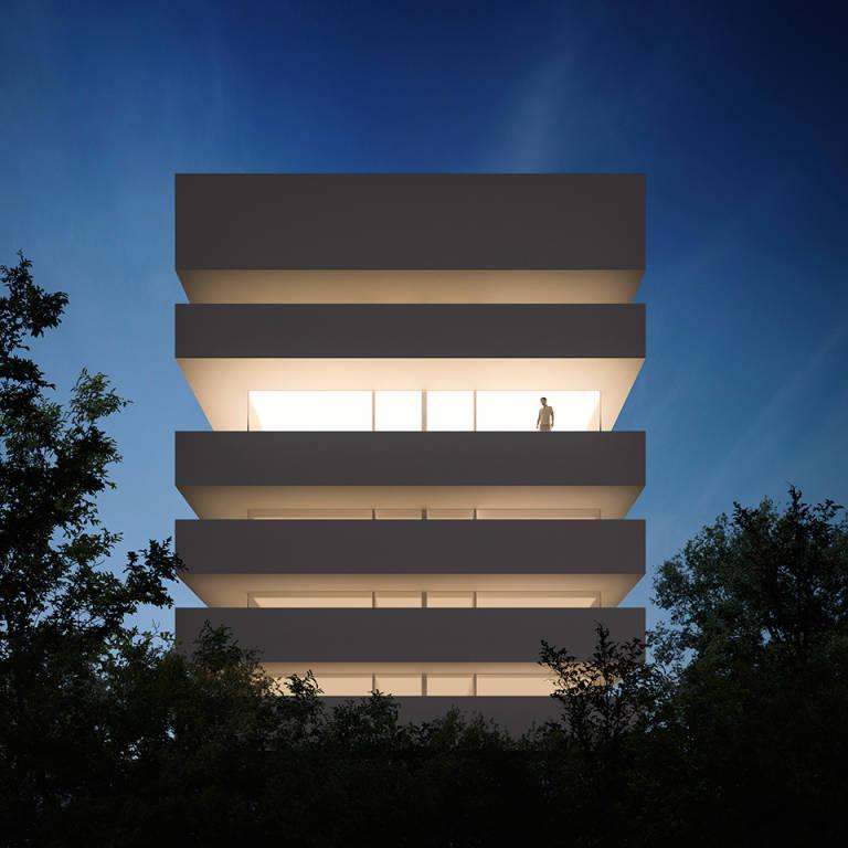 Arcadia playa sl ultima su nuevo proyecto hotelero en la for Fachadas hoteles minimalistas