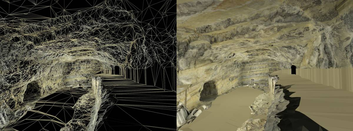 Foto 2: Model virtual de l'interior de la Britànica, inserida al tossal del Molinet.