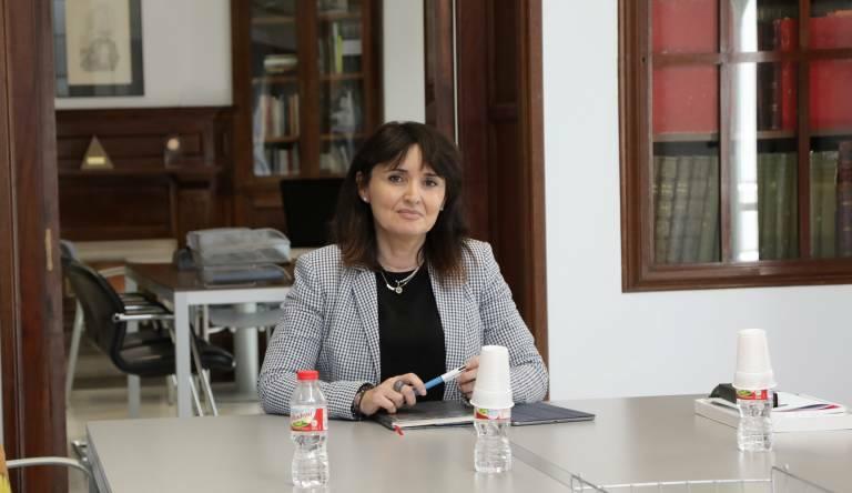Julia Parra, diputada de Cultura, en la Diputación de Alicante.